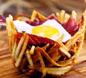 "ALT""=nidos de patata con jamon iberico online"""