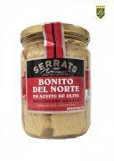 "ALT=""tarro lomos de bonito en aceite de oliva 400 gramos SERRATS"""