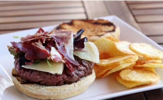 receta hamburguesa jamon