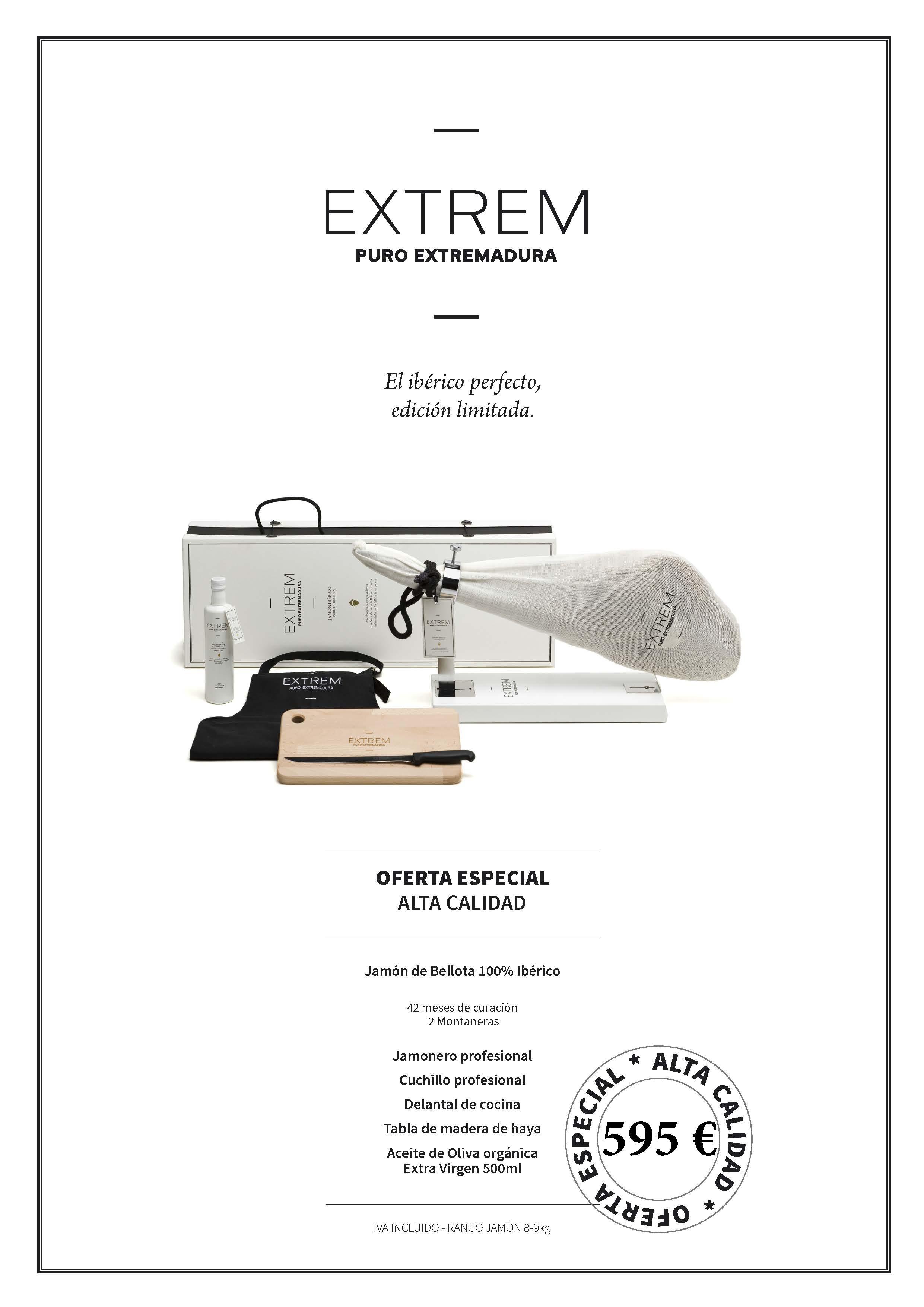 79315b846d Limited edition pack of 100% EXTREM acorn-fed Iberian ham +  giftsCharcutería Lázaro Fernández